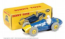 Dinky No.234 Ferrari Racing Car - blue, yellow