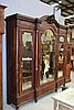 Impressive antique French rosewood breakfront