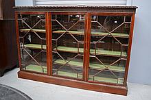 19th century English mahogany breakfront floor