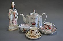 Assorted antique porcelain, to include Paris