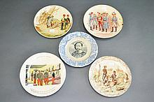 Five antique French military plates (5)