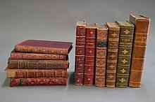 Eleven various leather bound books (11)