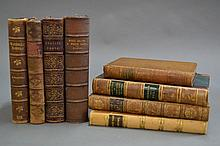 Eight various leather bound books (8)