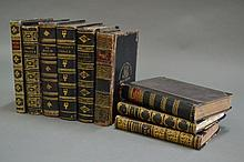 Nine various leather bound books (9)