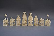 Antique 19th century Chinese Export carved ivory,