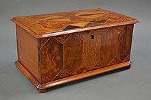 Rare William Norrie New Zealand specimen wood box,