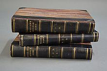 Three blue leather spine