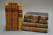 Seven various leather bound books (7)