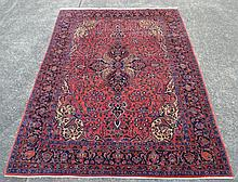 Large fine quality hand knotted carpet, of red