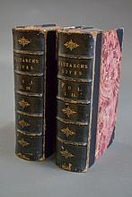 Two green leather spine, marbled with leather