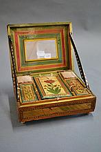 French Napoleonic Prisoner of War straw work box,