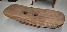 Antique late 19th century Naga carved solid teak