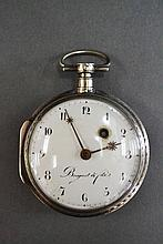 Antique French Breguet pear cased silver pocket
