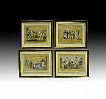 Four antique 18th century French engravings [Ex