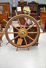 Large ships wheel, approx 152cm dia