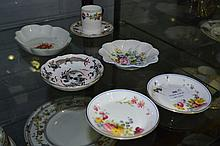 Collection of pin dishes & cup and saucer to include Royal Worcester & Shelley (6)