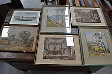 Box lot of pictures