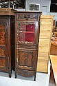 Antique French Louis XV carved oak cabinet, carved