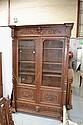 Antique French Henri II carved oak two door