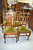 Set of four Tasmanian oak dining chairs (4)