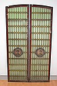 Pair of antique French stained glass leadlight