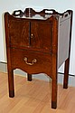 Antique Georgian tray top nightstand, standing