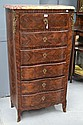 Antique French marble topped chest, fitted with