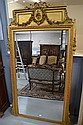 Antique French gilt framed mirror fitted with a