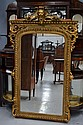 Antique French gilt surround mirror, lions mask to