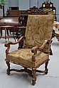 Antique French Louis XVI high back arm chair