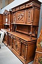 Large antique French Henri II walnut buffet,