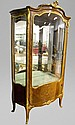 Fine antique French gilt bronze mounted vitrine,