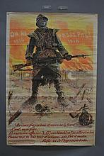 Large original French WWI military poster, Artist