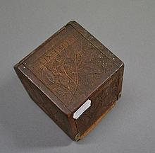 WWI poker work cigarette box French marked 1919