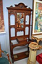 Antique carved oak hallstand