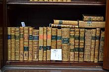 Selection of antique French leather bound books