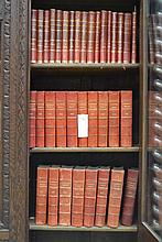 French Theatre red leather bound books, 1906 to