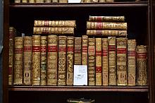Selection of Antique leather bound French books
