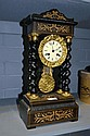 Antique French portico clock, decorated with