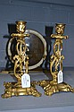 Pair of Antique English candlesticks standing 22cm