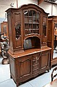 Antique French Louis XV walnut two height buffet,