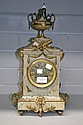 Antique French marble clock, with cast bronze