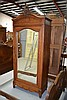 Antique French Louis XV style walnut single door
