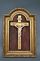 Antique French 19th century carved ivory Crucifix