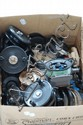 Box of Bakelite fishing reels
