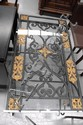 Wrought iron scroll work table, 106 x 58 cm