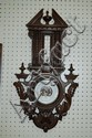 French carved oak barometer