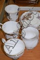 Assortment of cups and saucers, mugs etc, to