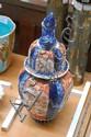 Antique Imari lidded vase