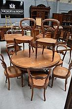Set of eight Antique French Napoleon III chairs (8)